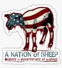 A Nation of Sheep Sticker