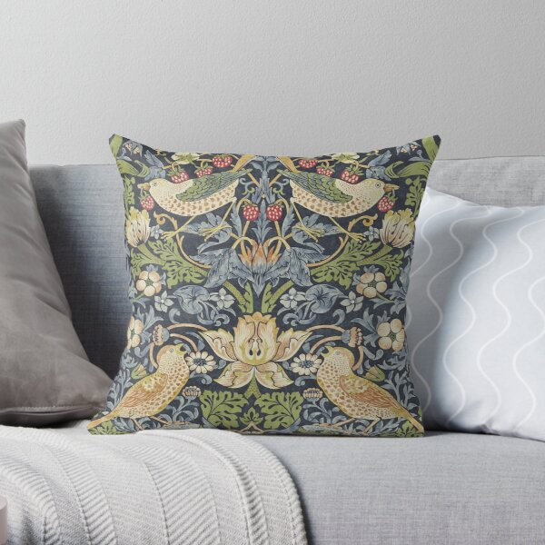 William Morris Strawberry Thief Original  Throw Pillow