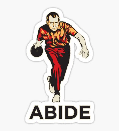 Bowling Nixon Abide  Sticker