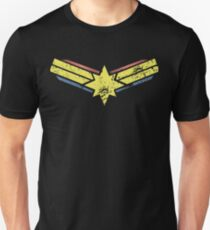 Gold, Red and Blue Star - Grunge - Distressed Unisex T-Shirt