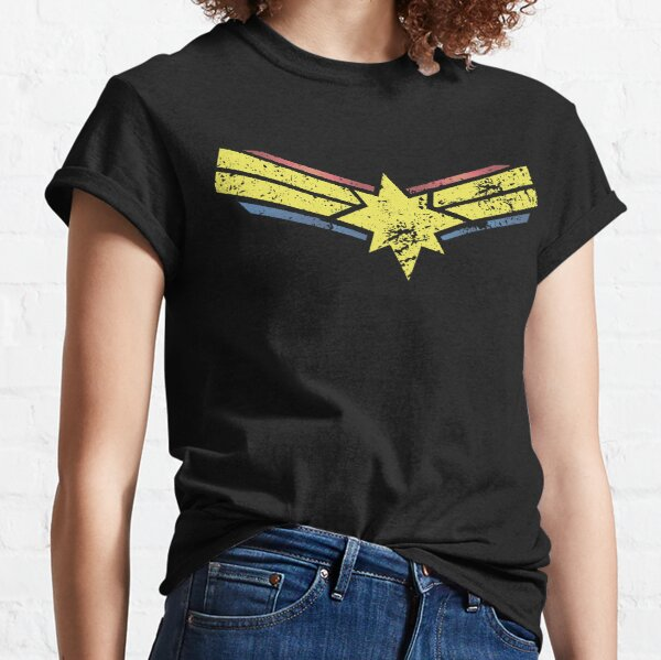 Gold, Red and Blue Star - Grunge - Distressed Classic T-Shirt