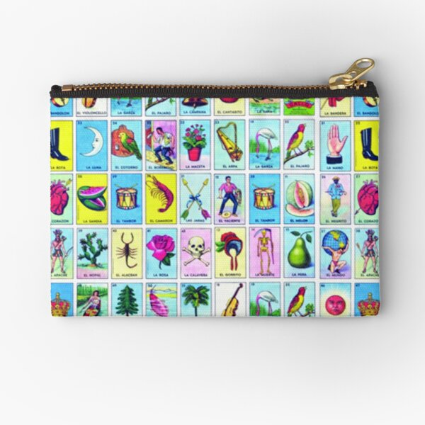 Loteria Cards Zipper Pouch