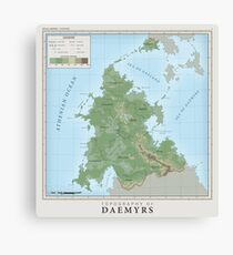 Daemyrs Topographical Map Canvas Print