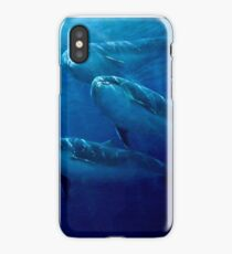 Fleeting communion - encounter with dolphins iPhone Case