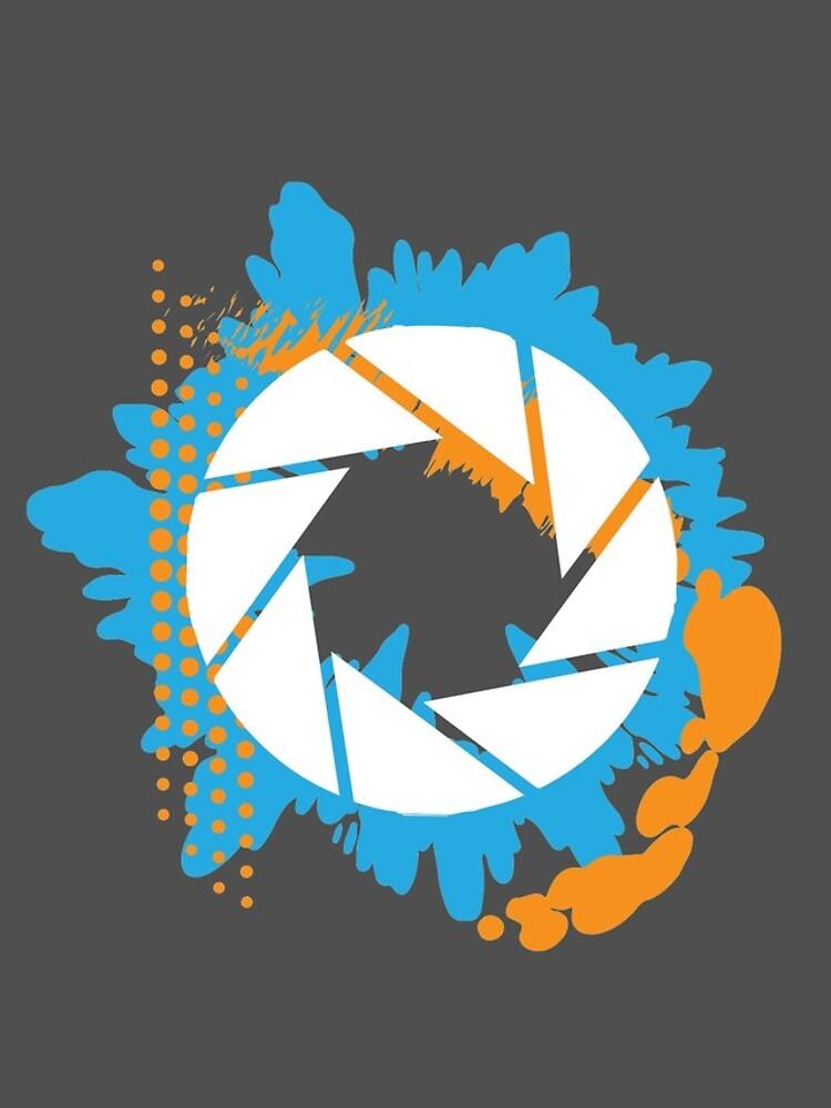 Portal - Logotipo abstracto de Aperture de Sgurf