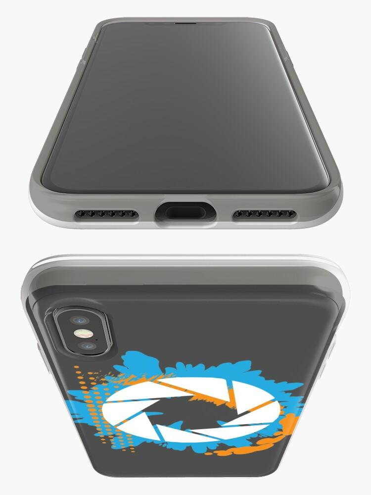 Vista alternativa de Vinilos y fundas para iPhone Portal - Logotipo abstracto de Aperture