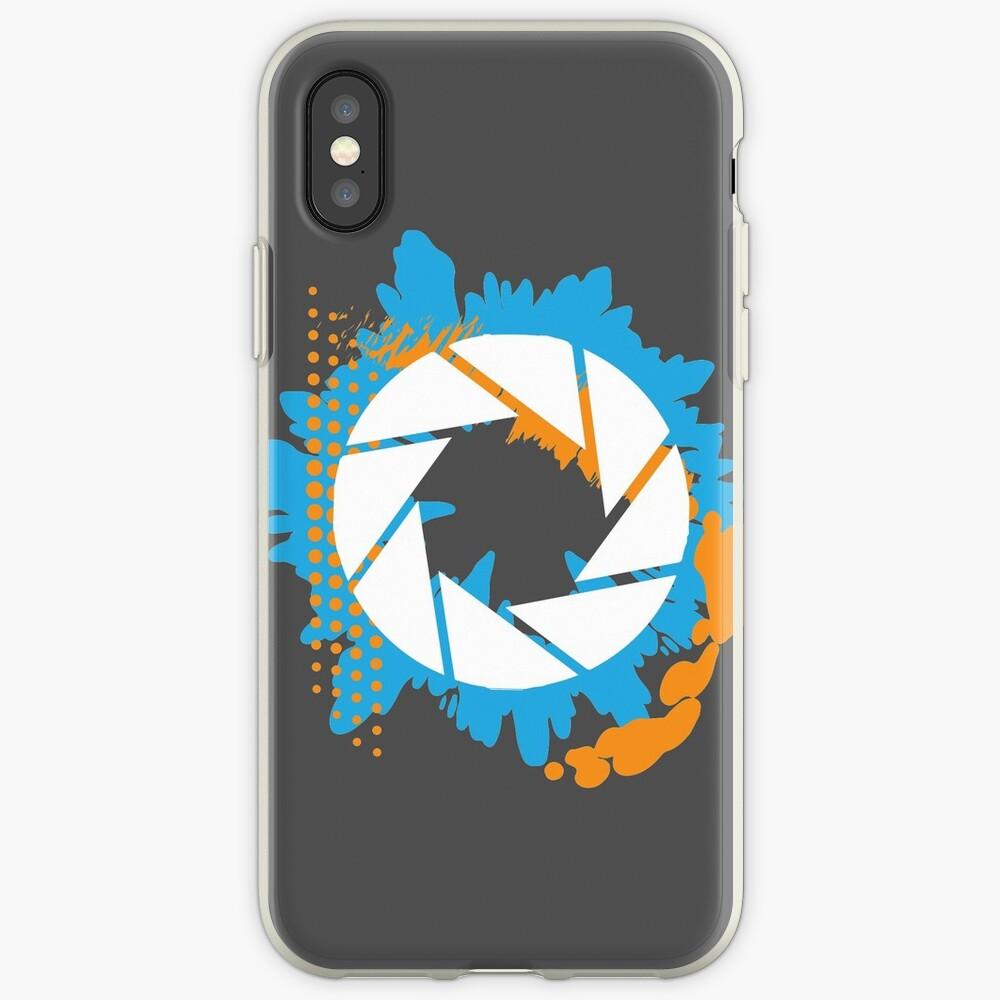 Portal - Logotipo abstracto de Aperture Vinilos y fundas para iPhone