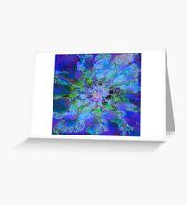 Fraktale Blue Lagoon Grußkarte