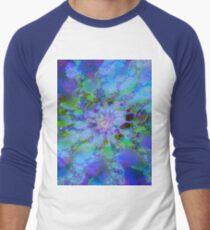 Fraktale Blue Lagoon Baseballshirt für Männer