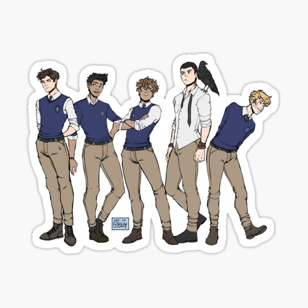 Never Mess With Raven Boys Sticker
