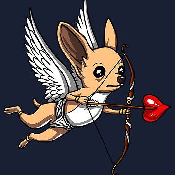 Chihuahua Dog Cupid Valentines Day Pet Love by underheaven