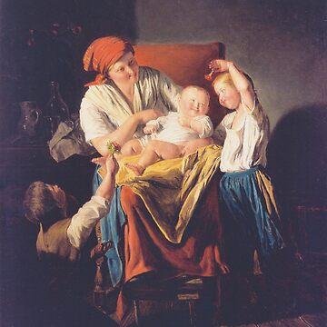 Mothers joy-Ferdinand Georg Waldmüller by LexBauer