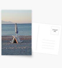 Sunbeds at Dawn Postcards