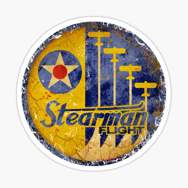 Stearman Wartime Aircraft USA Sticker