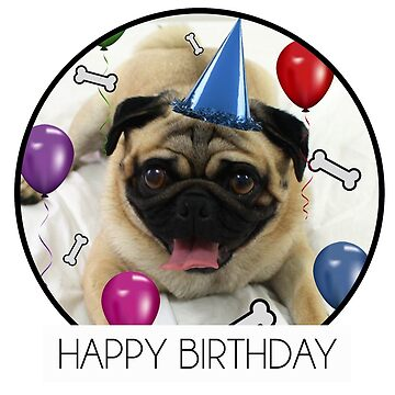 Birthday Pug By Agirlandherpug