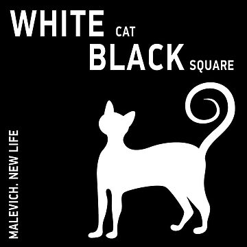 White cat, black square. Malevich by maclook