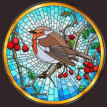 Robin en vidrio de Hareguizer