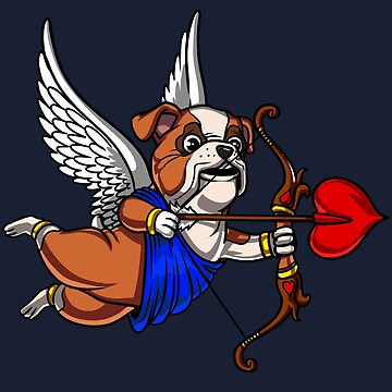 English Bulldog Cupid Valentines Day Funny Dog Pet by underheaven