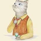 a cat and green drink by hahaha-creative
