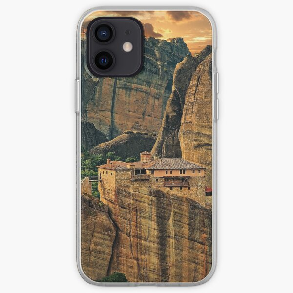 Greece. Meteora. The Holy Monastery of Rousanou/St. Barbara. iPhone Soft Case