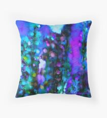 Abstract Art Floral Throw Pillow