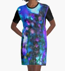 Abstract Art Floral Graphic T-Shirt Dress