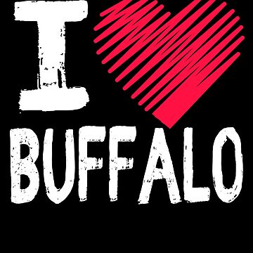 I Love Buffalo New York Tourist Gift by Aewood924
