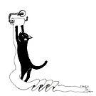 Cat vs Toilet Paper by dahlymama