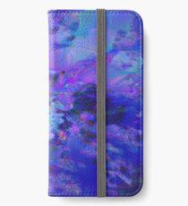 Fraktale Blue Andrea iPhone Flip-Case/Hülle/Skin