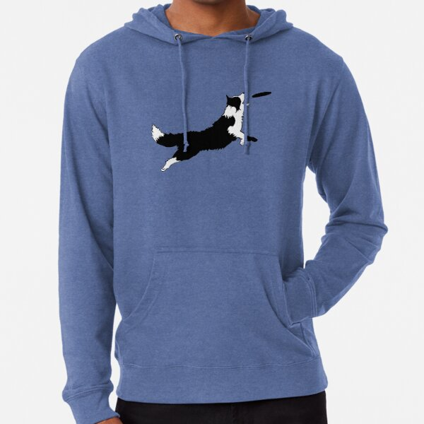 Dog Fetch Frisbee Border Collie Lightweight Hoodie