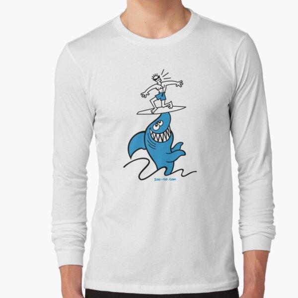 Shark Powered Surfing Long Sleeve T-Shirt