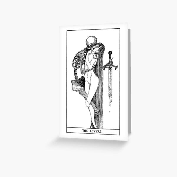THE LOVERS. Greeting Card