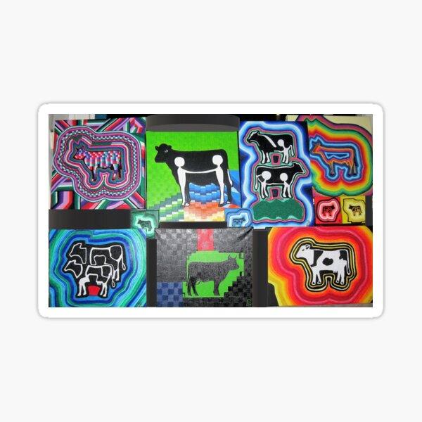 Bunte Kühe Sticker