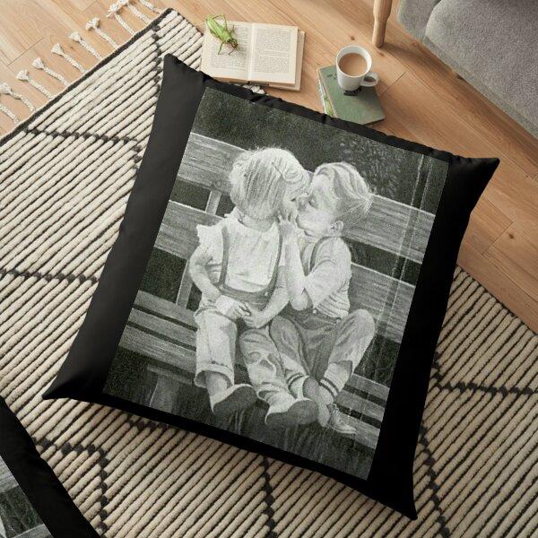 First Kiss Floor Pillow