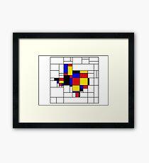 Texas du Mondrian Framed Print