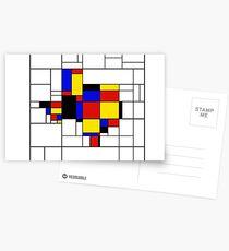 Texas du Mondrian Postcards