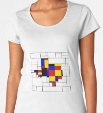 Texas du Mondrian Women's Premium T-Shirt