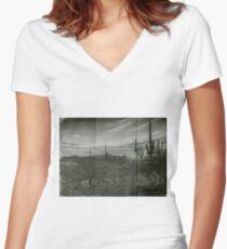 Desert Twilight  Women's Fitted V-Neck T-Shirt