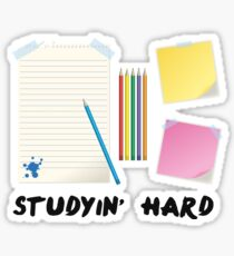 Studying Hard Sticker