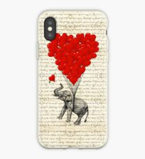 Elephant and love heart iPhone Case