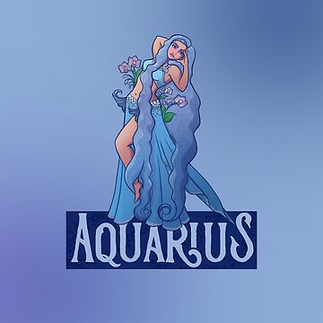 Aquarius Belly Dancer Zodiac   by Boogiemonst