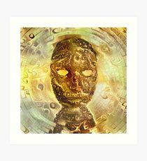 Golden Mask Art Print