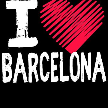 I Love Barcelona Spain Tourist Gift by Aewood924