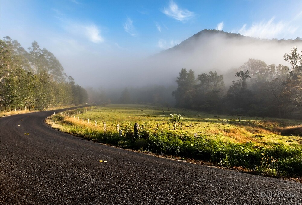 The Road less Travelled -  near Gloucester NSW Australia by Beth  Wode