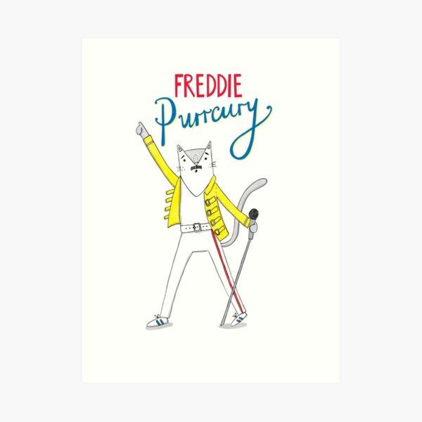 Freddie Purrcury Art Print
