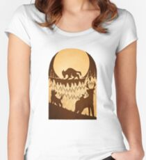 Full Moon in the Forest Women's Fitted Scoop T-Shirt