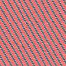 Living Coral Diagonal Stripes by Looly Elzayat