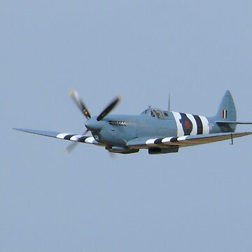 A blue Spitfire in Flight by johnny2sheds
