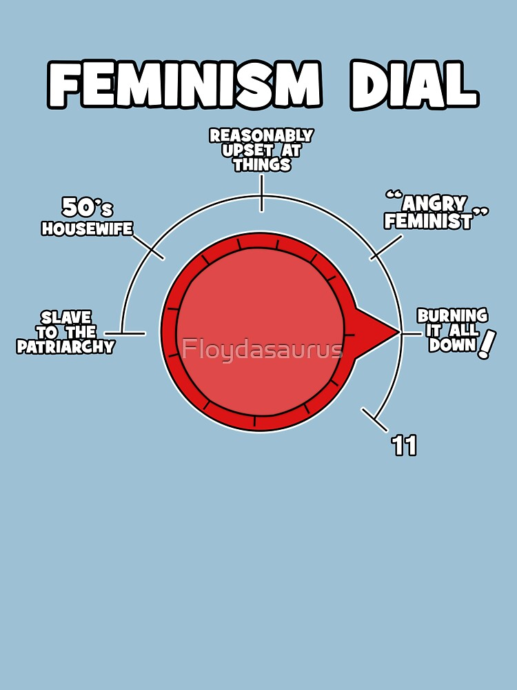 Raging Feminist Dial Ready For Protesting! by Floydasaurus