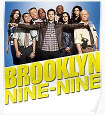 Brooklyn Nine Nine 99 - Cast and Logo Poster
